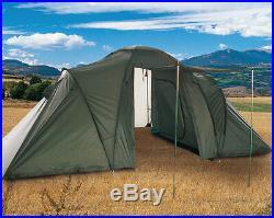 Mil-Tec 4-Personen-Zelt 2+2 Campingzelt Outdoor Oliv 2,2x4,2m