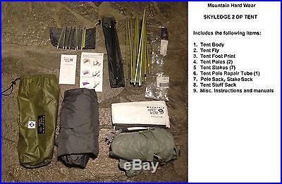 Mountain Hard Wear SKYLEDGE 2 DP UltraLite/Dry Pitch TENT (2 Person/3 Season)