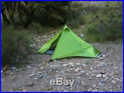 NEMO META 1P tent and footprint, ultralight bikepacking and camping, under 3 lbs