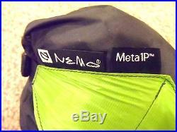 NEMO META 1 PERSON TREKKING POLE TENT WITH FOOTPRINT