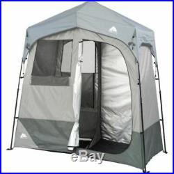 NEW 2-Room Portable Outdoor Instant Shower/Changing/Utility Privacy Tent Shelter