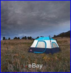 NEW! COLEMAN 4 Person Family Camping Instant Cabin Tent with WeatherTec 8' x 7