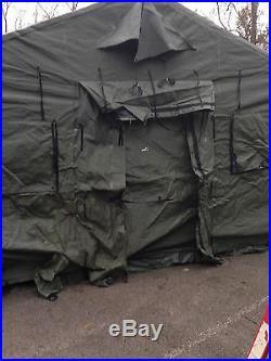 NEW Military Expandable Modular Temper Tent 20u0027 X 16u0027 With Liner & NEW Military Expandable Modular Temper Tent 20u2032 X 16u2032 With Liner ...