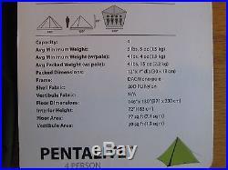 NEW NEMO PENTALITE 4 PERSON PYRAMID / FLOOR LESS 4 LBS. 4 OZ