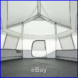 NEW Ozark Trail 17' x 15' Person Instant Hexagon Cabin Tent Sleeps 11 Camping