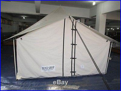 NEW SPIKE CANVAS WALL TENT 10u0027 x 10 & NEW SPIKE CANVAS WALL TENT 10u2032 x 10 @ Small Camping Tents
