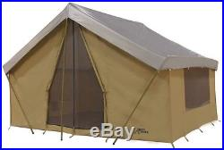 NEW Trek Tents 245C Canvas Cabin 9' x 12' Heavy Duty 7 Person Tent with Fly Cover