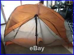 NWT Big Agnes Copper Spur HV UL2 -3 Season 2 Person Tent Yellow with footprint