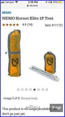 Nemo Hornet Elite Ultralight Backpacking 1Person Tent