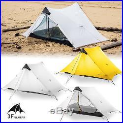 New LanShan 2 3F UL GEAR 2 Person Outdoor Ultralight Camping Tent 3 Season