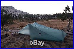 New MSR FlyLite 2-Person Trekking Pole Backpacking Shelter Tent + used FOOTPRINT
