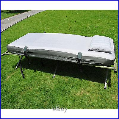 New Outsunny Single Folding Camp Shelter Bed Cot W/ Tent Sleeping Bag Airbed Mat