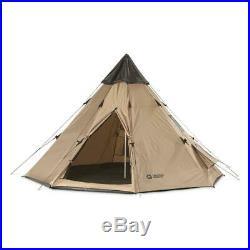 New Teepee Tent 10x10 Sleeps 2 To 6 People Beige Camp Army Shelter Weatherproof