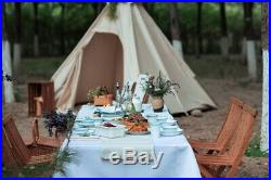 Oudoor Canvas Camping Pyramid Adult Indian Teepee Tent for 23 Person