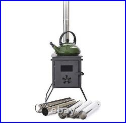 Outbacker'Firebox' Portable Camping Bell Tent Stove Log Burner Free bag