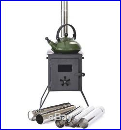 Outbacker'Firebox' Portable Wood Burning Tent Stove For Bell Tent -Free bag