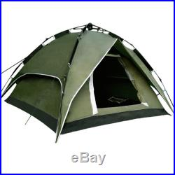 Outdoor Automatic Tent Waterproof Double Layer 3-4 Person Instant Camping Green