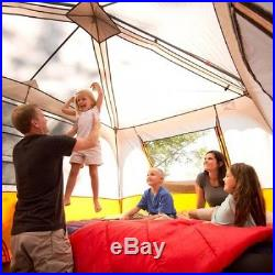 Outdoor Camping Tent 8-Person Waterproof 2 Rooms Family Instant Cabin Shelters