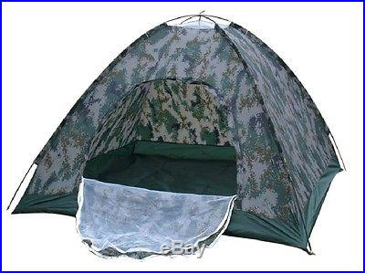 Outdoor Camping Waterproof 4person 4 season folding tent Camouflage Hiking i