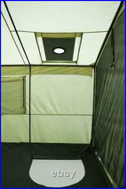 Outdoor Wall Tent 12' X 10' With Stove Camping Heavy-Duty Canvas