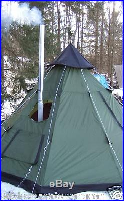 Outfitter Spike Tent 12 Person Teepee Basecamp Hunting Guide Cabin Waterproof TP