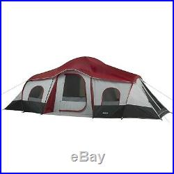 Ozark Trail 10-Person 3-Room Cabin Tent with 2 Side Entrances