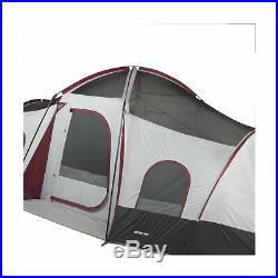 Ozark Trail 10-Person 3-Room Cabin Tent with 2 Side Entrances Red