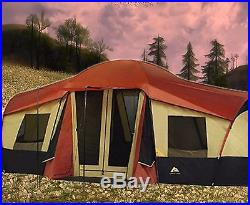 Ozark Trail 10-Person 3-Room Cabin Tent with Front Porch