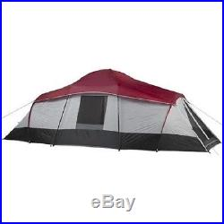 Ozark Trail 10 Person 3-Room Instant Cabin Tent Large Outdoor Camping Light Easy