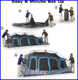 Ozark Trail 10-Person Dark Rest Instant Cabin Tent Camping Outdoor Hiking New SH