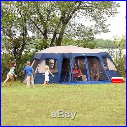 Ozark Trail 12 Person 2 Cabin Room Instant Large Family Tent Camping  Outdoor NEW