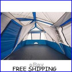 Ozark Trail 12 Person 2 Room Instant Cabin Tent Easy Setup Family Camping Hunt