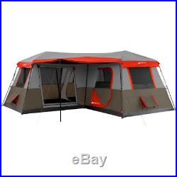 Ozark Trail 12 Person 3 Room L Shaped Instant Cabin Tent Camping Instant Set Up