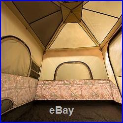 Ozark Trail 13' X 9' Instant Cabin Tent With Realtree Xtra Camo, Sleeps 8 New