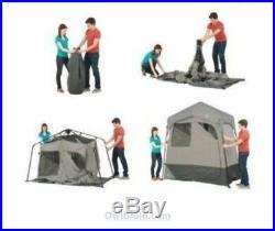Ozark Trail 2-Room Instant Camping Shower/Utility Shelter Tent Dressing Solar