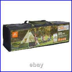 Ozark Trail 7-Person Large Teepee Tent Yurt 12' x 12' Family Camping Travel