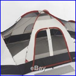 Ozark Trail 8 Person Camping Tent Cabin Yurt Family Outdoor Room w 2 Mattress