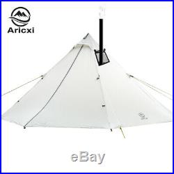 Person Ultralight Outdoor Camping Teepee 20D Silnylon Pyramid Tent Large