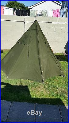 Polish army olive military two man teepee style army surplus tent WITH POLES 1-2 & Polish army olive military two man teepee style army surplus tent ...