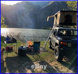 Pop Up Hard Shell Overlanding Camping Car/Truck/Suv/Van Roof Top Tent WoodsBuilt