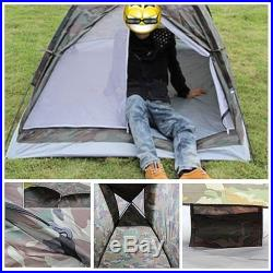 Portable Outdoor Camping 2 Person 4 Season Folding Tent Camouflage Hiking ONE