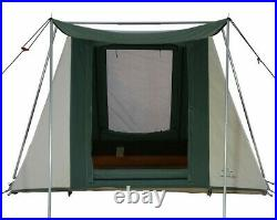 Prota Canvas Flex-bow 4 Person Outdoor Camping 7'x9' Waterproof Canvas Tent