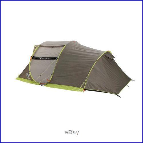 Quechua Waterproof Pop Up Camping Tent 2 Seconds XXL III, 3-4 Man Double Lining