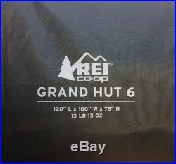 REI Co-op Grand Hut 6 Person Spacious Camping Tent