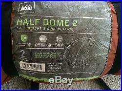 REI Half Dome 2 Lightweight 3 Season 2 Person Tent FLOOR 88x52 HEIGHT 40