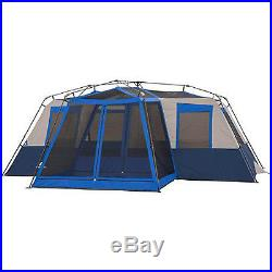 River Camping 12 Person Large Instant Tent 18' x 16' Screen Room Family Cabin