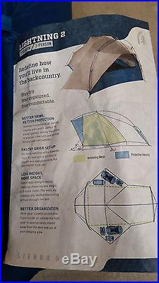 Sierra Designs Lightning 2 Tent with Footprint! 3 Season Freestanding New