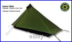 Six Moon Designs Lunar Solo Green, 24 oz. Ultralight 1 Person Tent