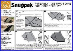 Snugpak Scorpion 2 (2-Person) 4 Season Tactical/Military/Camping Tent Olive/OD