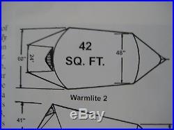 Stephensons Warmlite 2R Lightweight 4 Season Tent. New